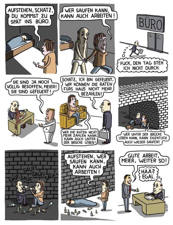 cartoon poster b ro richert eulenspiegel laden der online shop f r satire und humor. Black Bedroom Furniture Sets. Home Design Ideas
